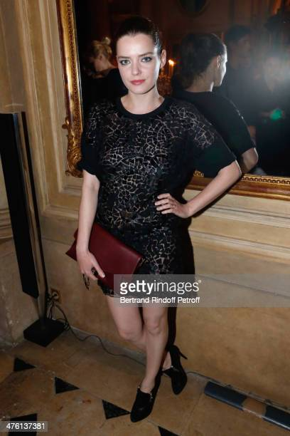 Actress Roxane Mesquida attending the Cocktail Dinatoire of German VOGUE in honor of Mario Testino at Restaurant 1728 on March 1st 2014 in Paris...