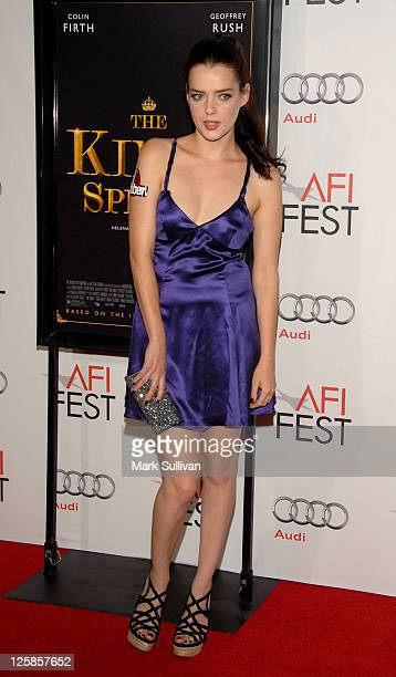 Actress Roxane Mesquida attends AFI Fest 2010 Screening Of 'The King's Speech' at Grauman's Chinese Theatre on November 5 2010 in Hollywood California