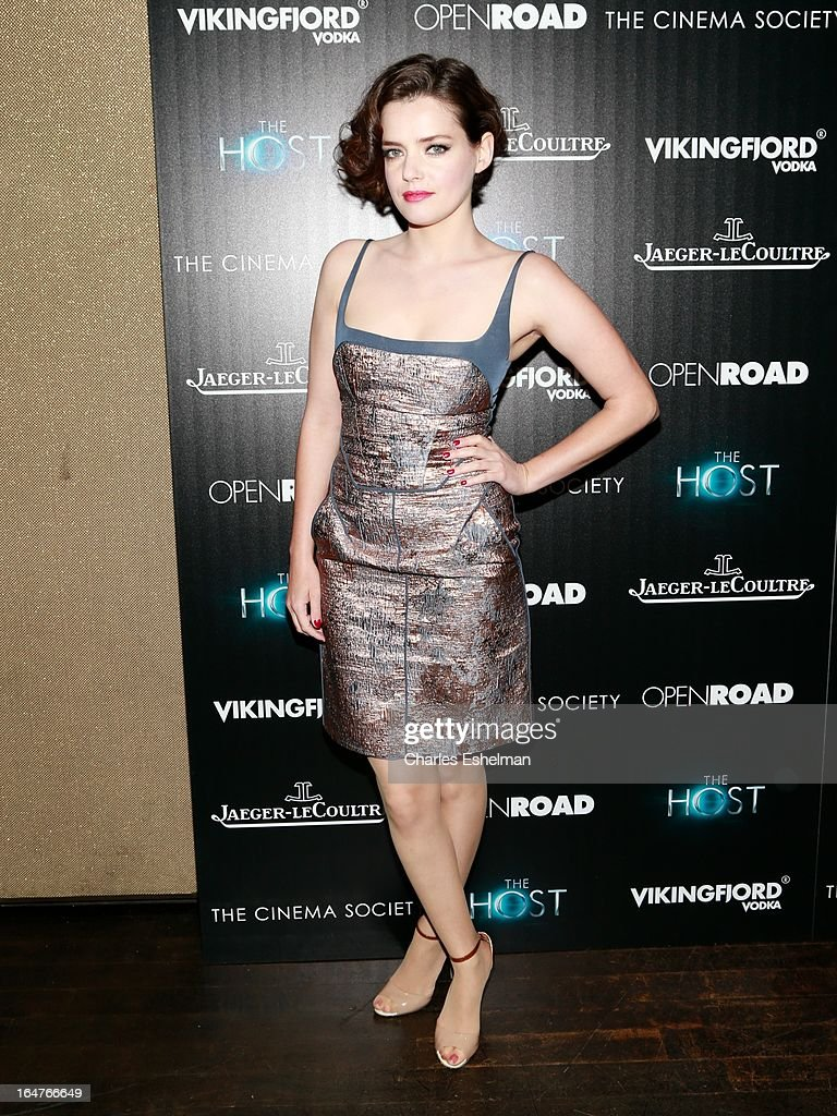 Actress Roxane Mesquida attends The Cinema Society & Jaeger-LeCoultre Host A Screening Of Open Road Films' 'The Host' at the Tribeca Grand Hotel - Screening Room on March 27, 2013 in New York City.