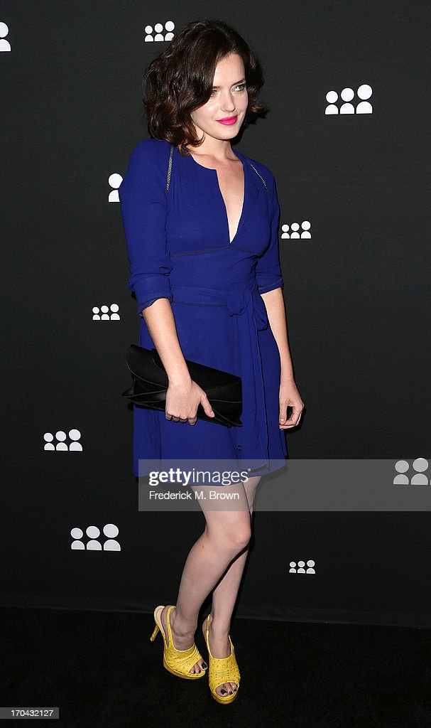 Actress Roxane Mesquida attends the Myspace Event at the El Rey Theatre on June 12, 2013 in Los Angeles, California.