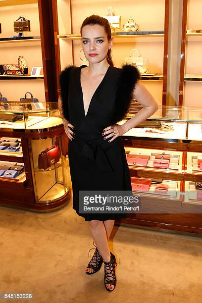 Actress Roxane Mesquida attends the Re Opening of Salvatore Ferragamo Boutique at Avenue Montaigne on July 5 2016 in Paris France