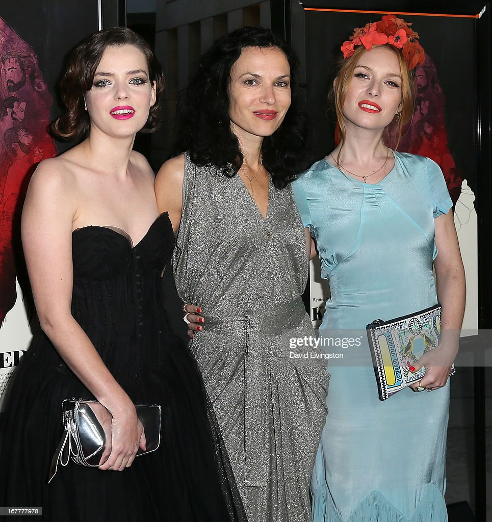 Actress <a gi-track='captionPersonalityLinkClicked' href=/galleries/search?phrase=Roxane+Mesquida&family=editorial&specificpeople=217749 ng-click='$event.stopPropagation()'>Roxane Mesquida</a>, director Xan Cassavetes and actress Josephine de La Baume attend a screening of Magnolia Pictures' 'Kiss of the Damned' at ArcLight Cinemas on April 29, 2013 in Hollywood, California.