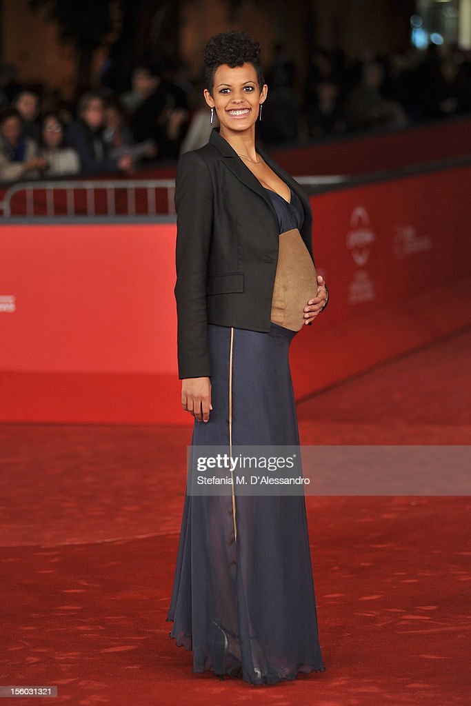 Actress Roxanne Hauzer attends the ''Tasher Desh' Premiere during the 7th Rome Film Festival at the Auditorium Parco Della Musica on November 11, 2012 in Rome, Italy