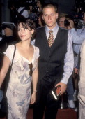 Actress Roxanne Zal and actor Corin Nemec attends the 'Beverly Hills Cop III' Hollywood Premiere on May 22 1994 at Mann's Chinese Theatre in...
