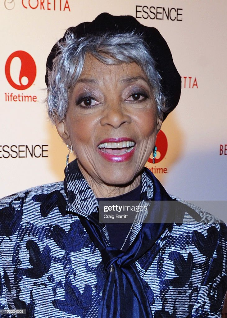 Actress <a gi-track='captionPersonalityLinkClicked' href=/galleries/search?phrase=Ruby+Dee&family=editorial&specificpeople=217744 ng-click='$event.stopPropagation()'>Ruby Dee</a> attends the premiere of 'Betty & Coretta' to celebrate with Lifetime and cast at Tribeca Cinemas on January 28, 2013 in New York City.