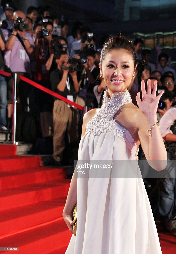 Actress Ruby Lin arrives at the opening ceremony of the 11th Shanghai Film Festival on June 14, 2008 in Shanghai, China.