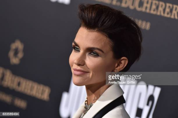 Actress Ruby Rose arrives at the Los Angeles premiere of Summit Entertainment's 'John Wick Chapter 2' at ArcLight Hollywood on January 30 2017 in...
