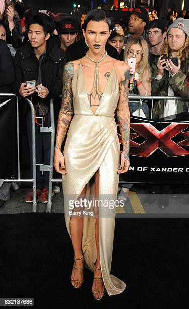 Actress Ruby Rose arrives at the premiere of Paramount Pictures' 'xXx Return Of Xander Cage' at TCL Chinese Theatre IMAX on January 19 2017 in...