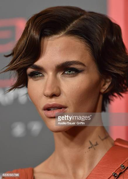 Actress Ruby Rose arrives at the premiere of Sony Pictures Releasing's 'Resident Evil The Final Chapter' at Regal LA Live A Barco Innovation Center...