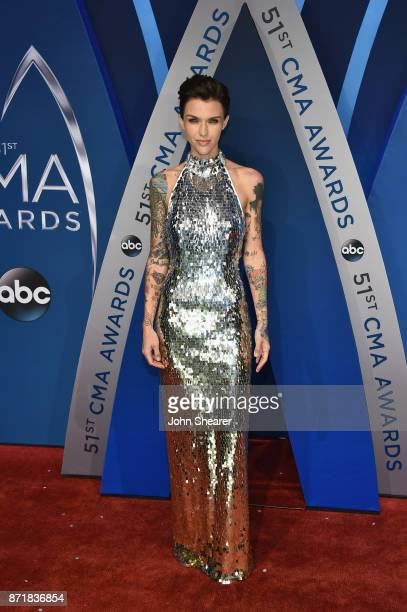Actress Ruby Rose attends the 51st annual CMA Awards at the Bridgestone Arena on November 8 2017 in Nashville Tennessee