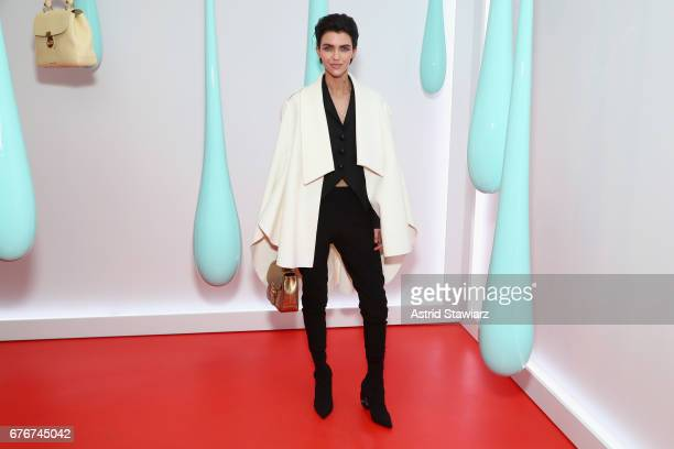 Actress Ruby Rose attends the launch of the Burberry DK88 Bag hosted by Christopher Bailey at Burberry Soho on May 2 2017 in New York City