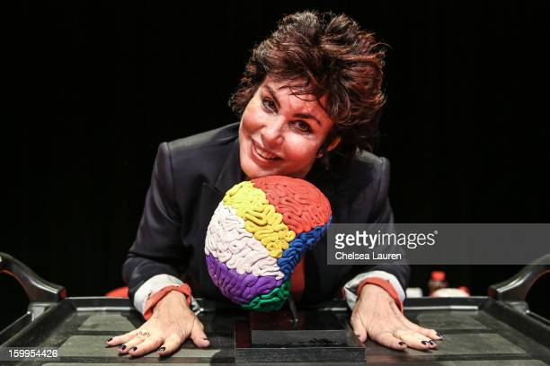Actress Ruby Wax poses at 'Ruby Wax Out of Her Mind' at The Broad Stage on January 23 2013 in Santa Monica California