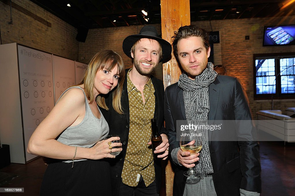 Actress Ruby Wendell, musician Paul McDonald and actor Thomas Dekker attend the 'Snap' cast dinner with Nikki Reed hosted by The Samsung Galaxy Experience at SXSW 2013 on March 11, 2013 in Austin, Texas.