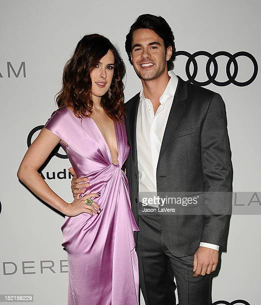 Actress Rumer Willis and actor Jayson Blair attend the Audi and Derek Lam kick off of Emmy week 2012 at Cecconi's Restaurant on September 16 2012 in...