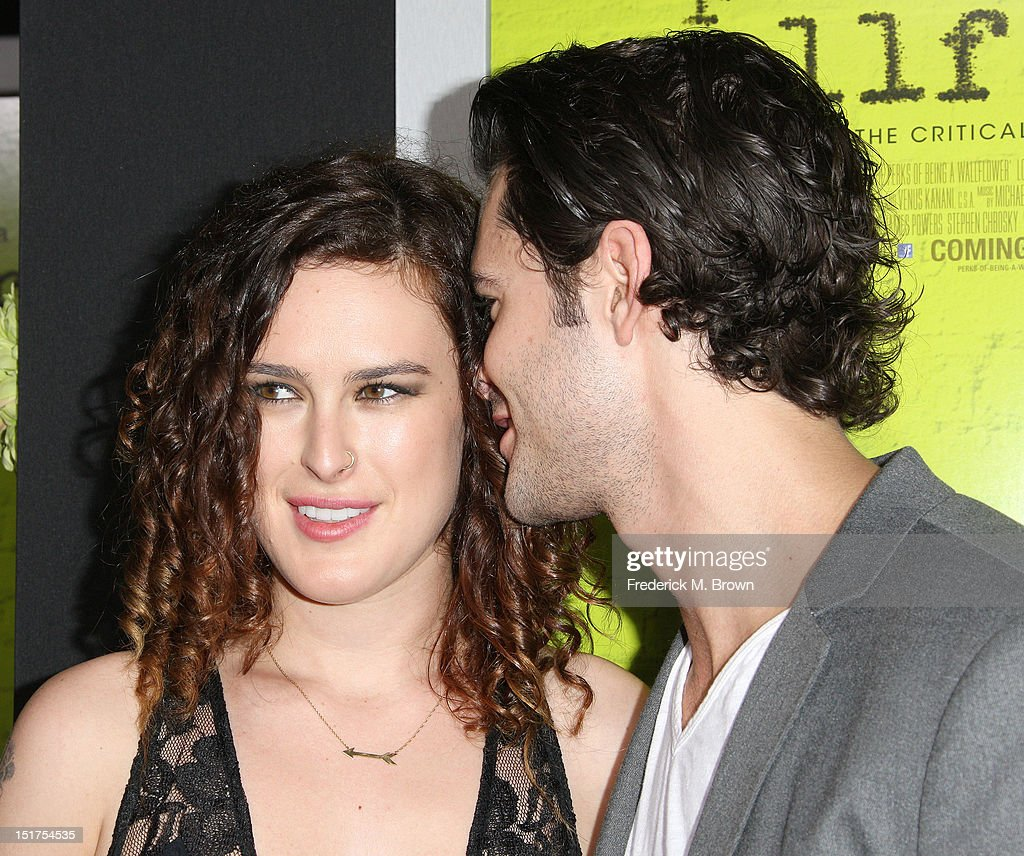 Actress <a gi-track='captionPersonalityLinkClicked' href=/galleries/search?phrase=Rumer+Willis&family=editorial&specificpeople=617003 ng-click='$event.stopPropagation()'>Rumer Willis</a> (L) and actor Jayson Blair attend the Premiere Of Summit Entertainment's 'The Perks Of Being A Wallflower' at the Arclight Cinerama Dome on September 10, 2012 in Hollywood, California.