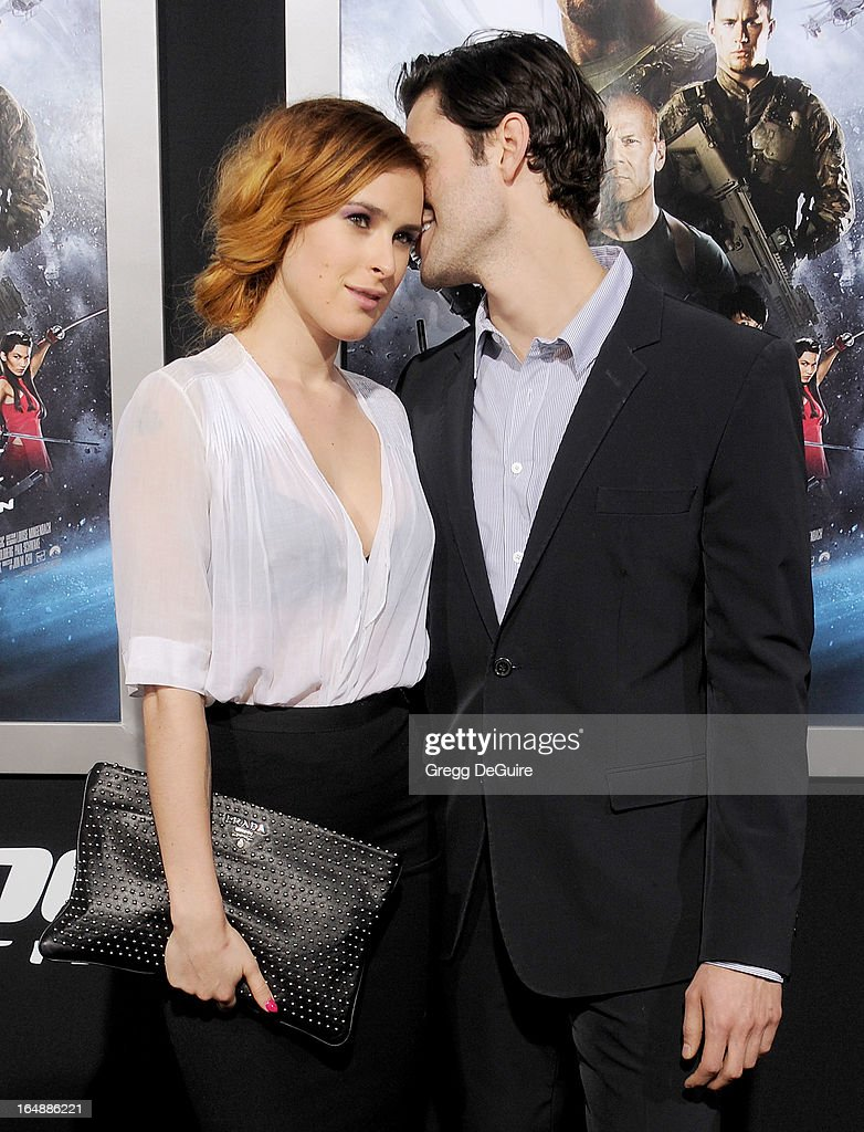 Actress Rumer Willis and Jayson Blair arrive at the 'G.I. Joe: Retaliation' Los Angeles premiere at TCL Chinese Theatre on March 28, 2013 in Hollywood, California.