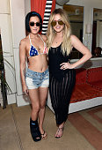 Actress Rumer Willis and television personality Khloe Kardashian celebrate Independence Day at Encore Beach Club at Wynn Las Vegas on July 4 2015 in...
