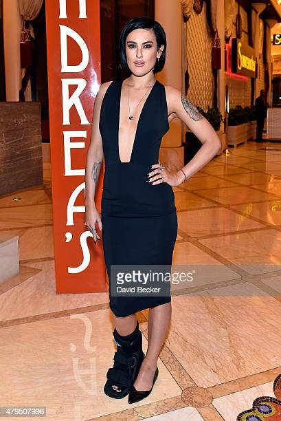 Actress Rumer Willis appears at Andrea's at Wynn Las Vegas on July 4 2015 in Las Vegas Nevada