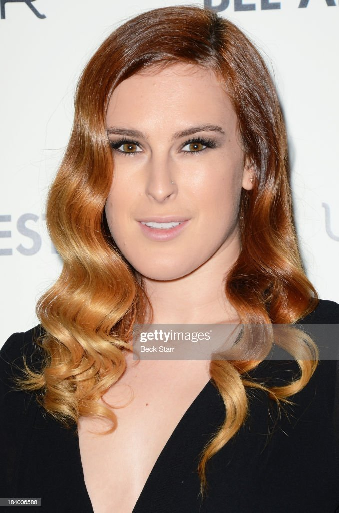 Actress <a gi-track='captionPersonalityLinkClicked' href=/galleries/search?phrase=Rumer+Willis&family=editorial&specificpeople=617003 ng-click='$event.stopPropagation()'>Rumer Willis</a> arrives at the 2013 Bel-Air Film Festival Red Carpet Gala at Hammer Museum on October 10, 2013 in Westwood, California.