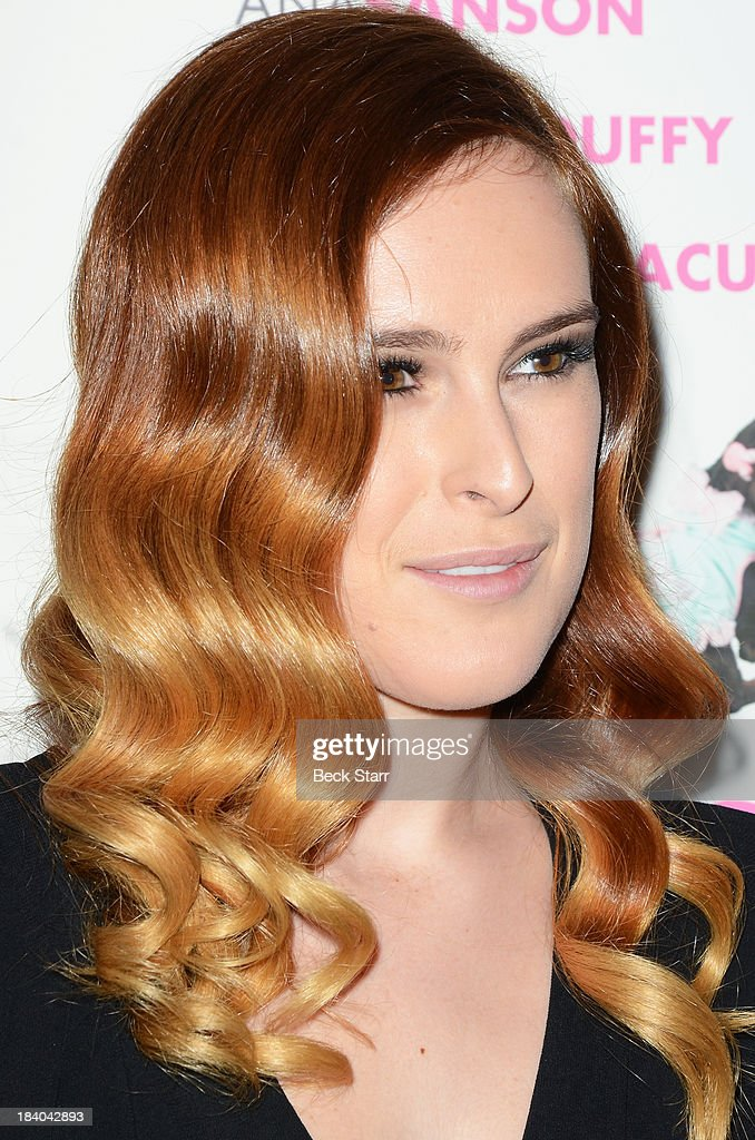 Actress <a gi-track='captionPersonalityLinkClicked' href=/galleries/search?phrase=Rumer+Willis&family=editorial&specificpeople=617003 ng-click='$event.stopPropagation()'>Rumer Willis</a> (hair detail) arrives at the 2013 Bel-Air Film Festival Red Carpet Gala at Hammer Museum on October 10, 2013 in Westwood, California.
