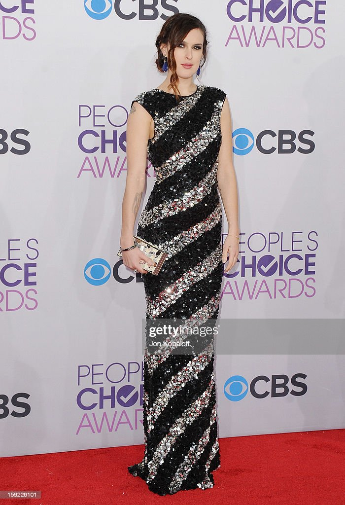 Actress Rumer Willis arrives at the 2013 People's Choice Awards at Nokia Theatre L.A. Live on January 9, 2013 in Los Angeles, California.
