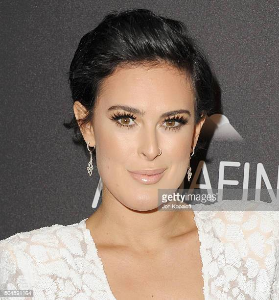 Actress Rumer Willis arrives at the 2016 InStyle And Warner Bros 73rd Annual Golden Globe Awards PostParty at The Beverly Hilton Hotel on January 10...