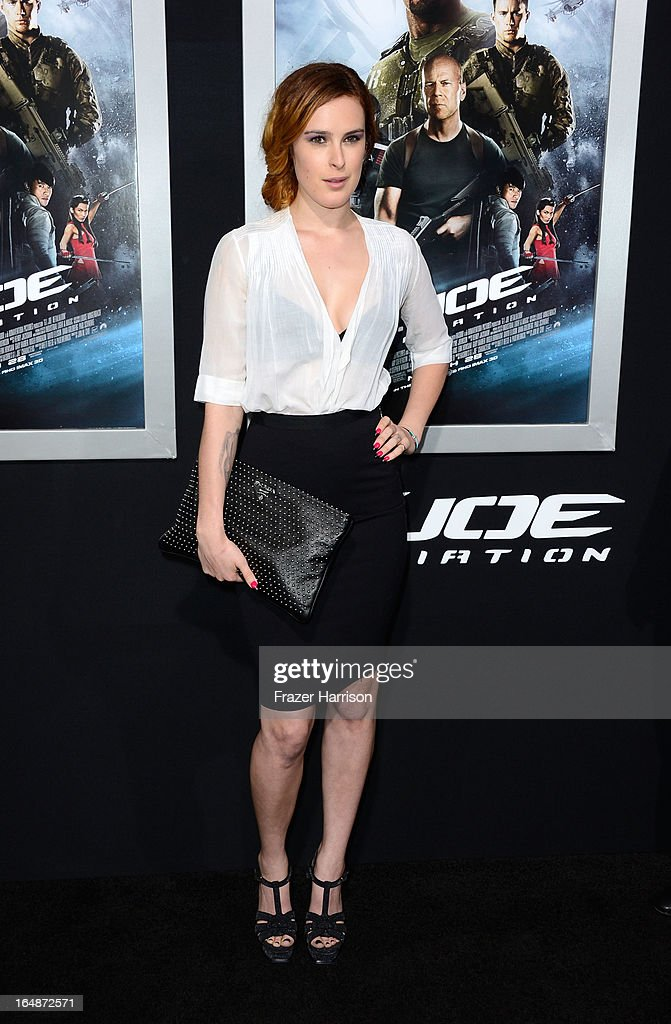 Actress Rumer Willis arrives at the Premiere of Paramount Pictures' 'G.I. Joe: Retaliation' at TCL Chinese Theatre on March 28, 2013 in Hollywood, California.