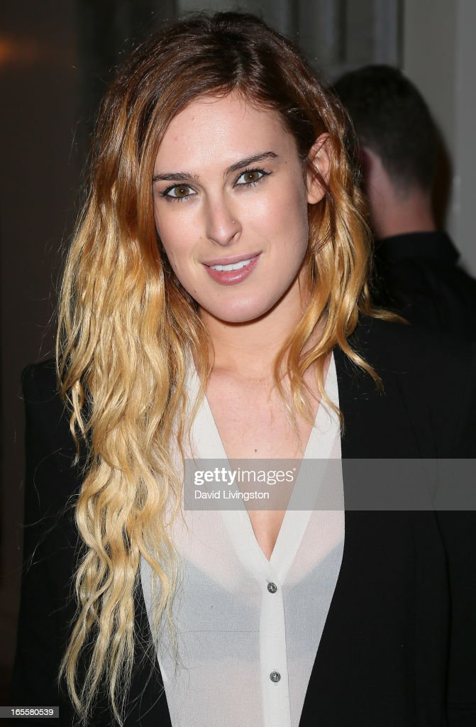 Actress Rumer Willis attends a cocktail party and book signing for 'A Letter to My Dog: Notes to Our Best Friends' at Anthropologie on April 4, 2013 in Beverly Hills, California.