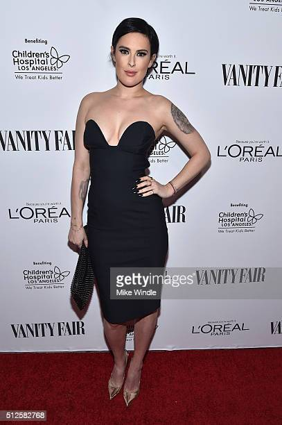 Actress Rumer Willis attends a DJ night hosted by Vanity Fair L'Oreal Paris Hailee Steinfeld at Palihouse Holloway on February 26 2016 in West...