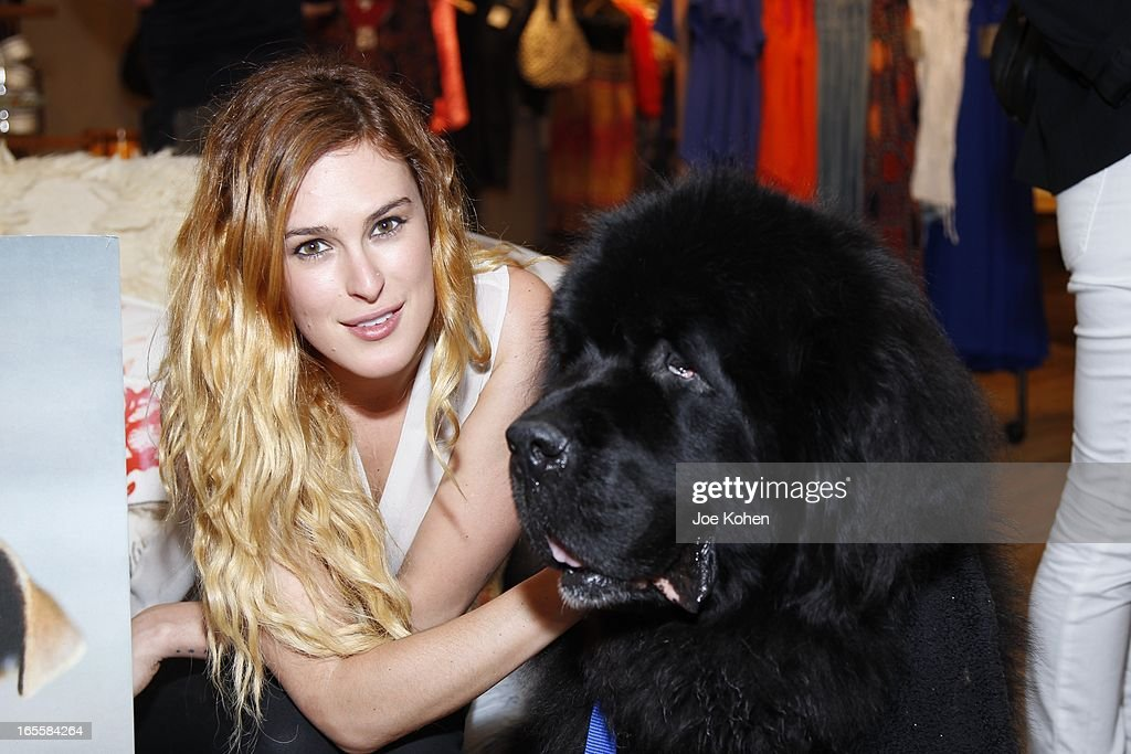 Actress <a gi-track='captionPersonalityLinkClicked' href=/galleries/search?phrase=Rumer+Willis&family=editorial&specificpeople=617003 ng-click='$event.stopPropagation()'>Rumer Willis</a> attends 'A Letter To My Dog: Notes To Our Best Friends' Cocktail Party And Book Signing at Anthropologie on April 4, 2013 in Beverly Hills, California.