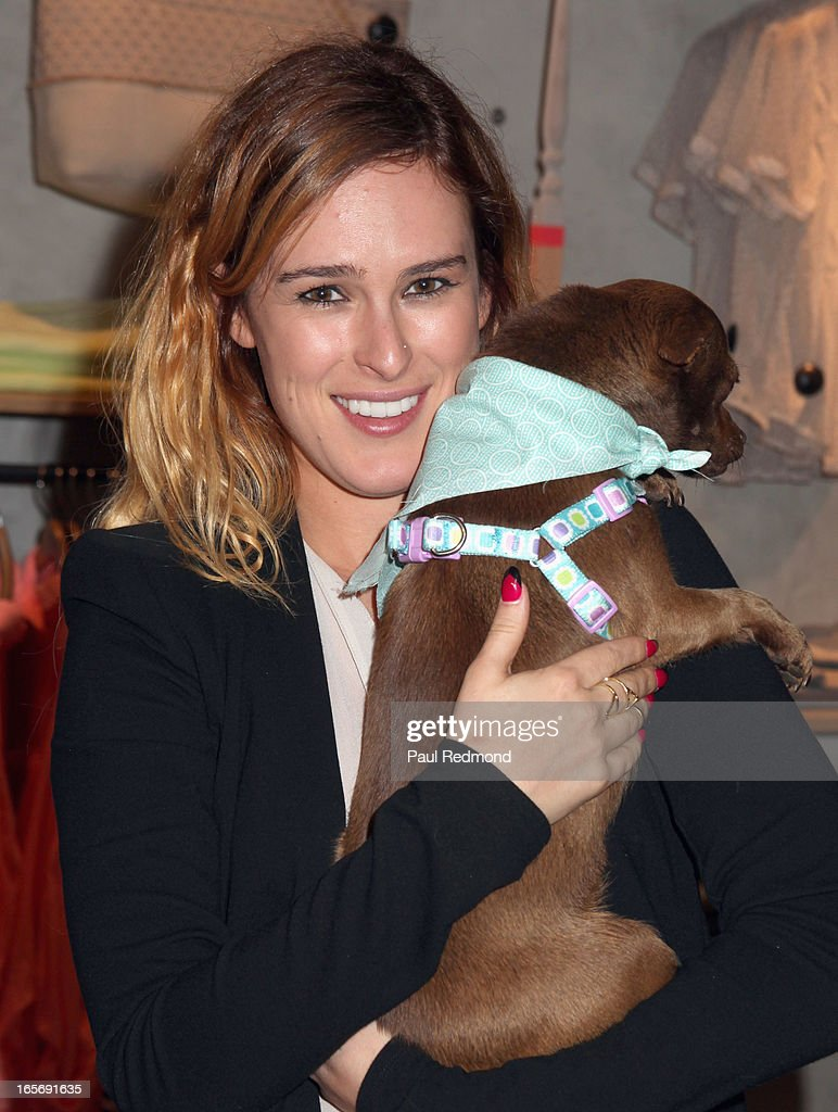 Actress Rumer Willis attends 'A Letter To My Dog: Notes To Our Best Friends' cocktail party and book signing at Anthropologie on April 4, 2013 in Beverly Hills, California.