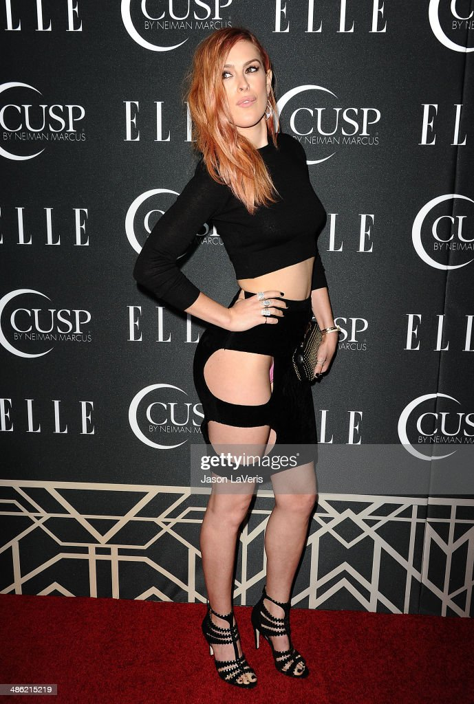 Actress <a gi-track='captionPersonalityLinkClicked' href=/galleries/search?phrase=Rumer+Willis&family=editorial&specificpeople=617003 ng-click='$event.stopPropagation()'>Rumer Willis</a> attends ELLE's 5th annual Women In Music concert celebration at Avalon on April 22, 2014 in Hollywood, California.