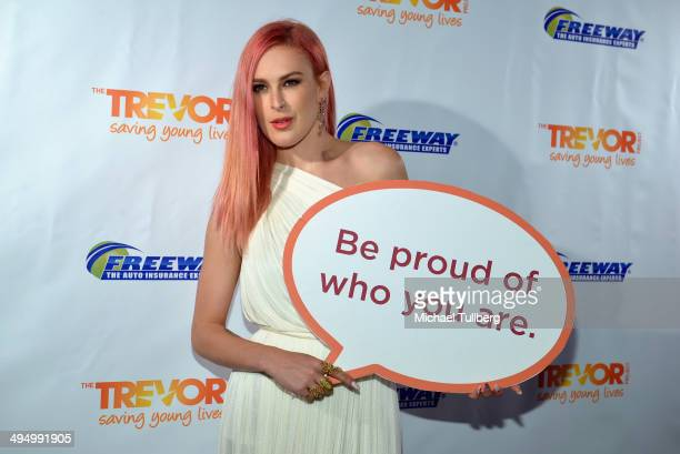 Actress Rumer Willis attends 'Prom 2014 A Night Out For Trevor' presented by the Trevor Project at Petersen Automotive Museum on May 31 2014 in Los...