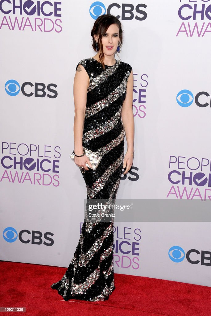 Actress Rumer Willis attends the 2013 People's Choice Awards at Nokia Theatre L.A. Live on January 9, 2013 in Los Angeles, California.