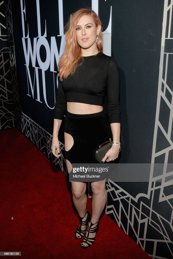 Actress <a gi-track='captionPersonalityLinkClicked' href=/galleries/search?phrase=Rumer+Willis&family=editorial&specificpeople=617003 ng-click='$event.stopPropagation()'>Rumer Willis</a> attends the 5th Annual ELLE Women in Music Celebration presented by CUSP by Neiman Marcus. Hosted by ELLE Editor-in-Chief Robbie Myers with performances by Sarah McLachlan, Angel Haze and Betty Who, with special DJ set by <a gi-track='captionPersonalityLinkClicked' href=/galleries/search?phrase=Rumer+Willis&family=editorial&specificpeople=617003 ng-click='$event.stopPropagation()'>Rumer Willis</a> at Avalon on April 22, 2014 in Hollywood, California.