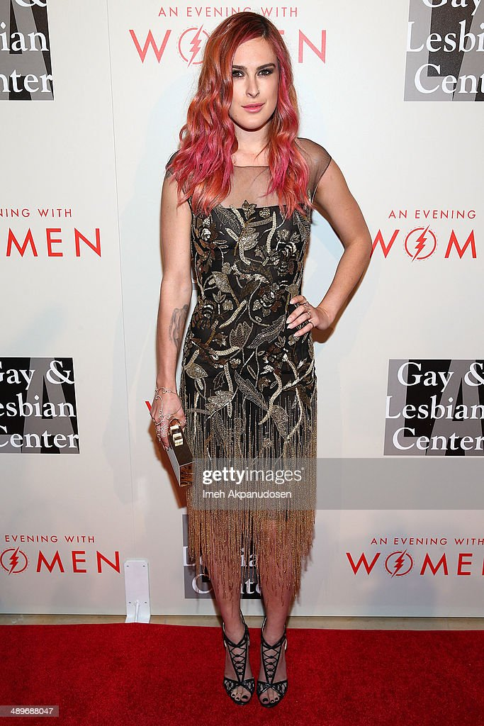 Actress <a gi-track='captionPersonalityLinkClicked' href=/galleries/search?phrase=Rumer+Willis&family=editorial&specificpeople=617003 ng-click='$event.stopPropagation()'>Rumer Willis</a> attends The L.A. Gay & Lesbian Center's 2014 An Evening With Women (AEWW) at The Beverly Hilton Hotel on May 10, 2014 in Beverly Hills, California.
