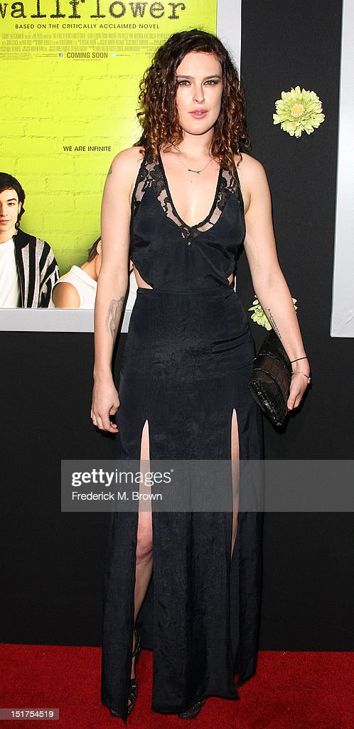 Actress Rumer Willis attends the Premiere Of Summit Entertainment's 'The Perks Of Being A Wallflower' at the Arclight Cinerama Dome on September 10, 2012 in Hollywood, California.