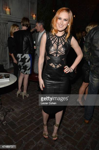 Actress Rumer Willis attends Vanity Fair and FIAT celebration of 'Young Hollywood' during Vanity Fair Campaign Hollywood at No Vacancy on February 25...
