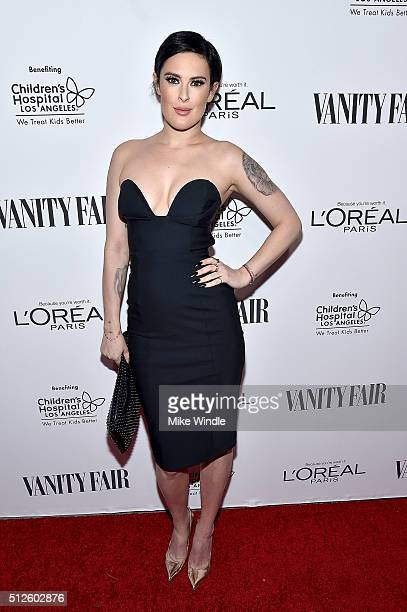 Actress Rumer Willis attends Vanity Fair L'Oreal Paris Hailee Steinfeld host DJ Night at Palihouse Holloway on February 26 2016 in West Hollywood...