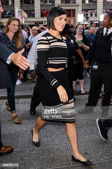 Actress Rumer Willis leaves the 'Good Morning America' taping at the ABC Times Square Studios on September 2 2015 in New York City