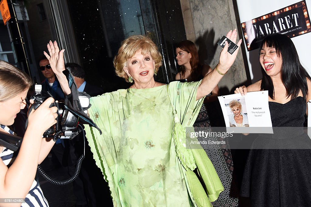 Actress Ruta Lee arrives at the opening of 'Cabaret' at the Hollywood Pantages Theatre on July 20, 2016 in Hollywood, California.