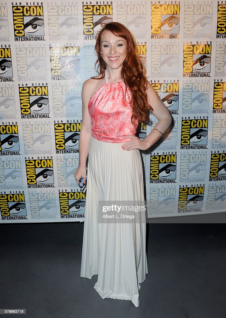 Actress Ruth Connell attends the 'Supernatural' Special Video Presentation And QA during ComicCon International 2016 at San Diego Convention Center...