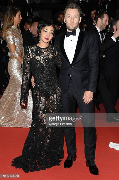 Actress Ruth Negga and actor Joel Edgerton departs from the 'Loving' Premiere at the annual 69th Cannes Film Festival at Palais des Festivals on May...