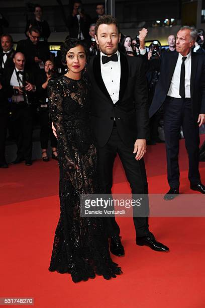 Actress Ruth Negga and actor Joel Edgerton leave the 'Loving' premiere during the 69th annual Cannes Film Festival at the Palais des Festivals on May...