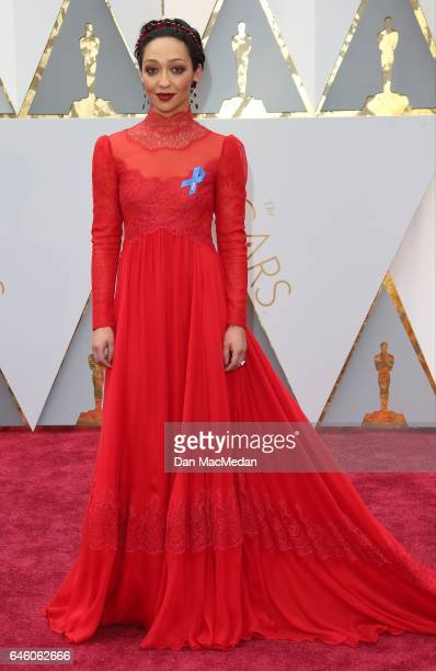 Actress Ruth Negga arrives at the 89th Annual Academy Awards at Hollywood Highland Center on February 26 2017 in Hollywood California