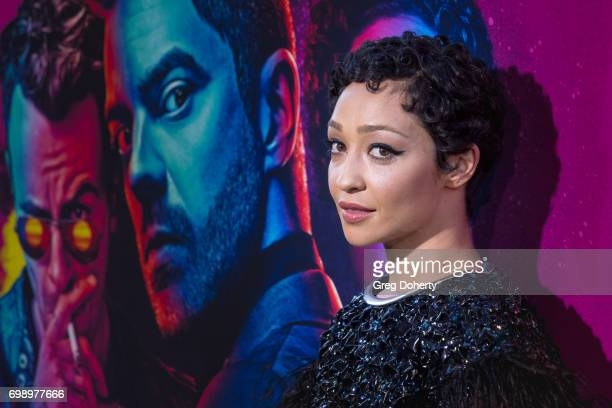 Actress Ruth Negga arrives for the Premiere Of AMC's 'Preacher' Season 2 at The Theatre at Ace Hotel on June 20 2017 in Los Angeles California