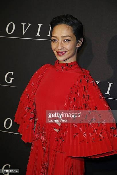Actress Ruth Negga attends 'Loving' Paris Premiere at Cinema UGC Normandie on December 6 2016 in Paris France