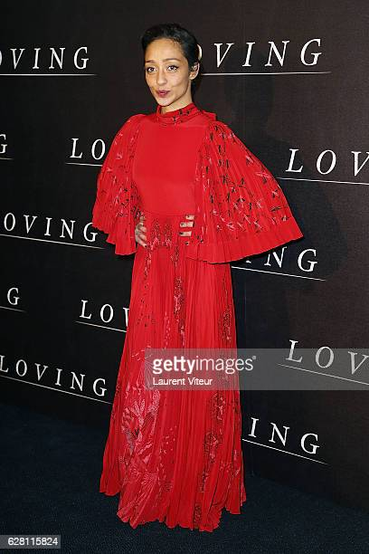 Actress Ruth Negga attends 'Loving' Paris Premiere at Cinema UGC Normandie on December 6 2016 in Paris France