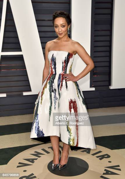 Actress Ruth Negga attends the 2017 Vanity Fair Oscar Party hosted by Graydon Carter at Wallis Annenberg Center for the Performing Arts on February...
