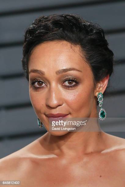 Actress Ruth Negga attends the 2017 Vanity Fair Oscar Party hosted by Graydon Carter at the Wallis Annenberg Center for the Performing Arts on...